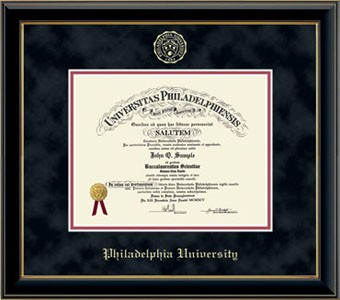 Diploma Frame Embossed Edition Onyx Gold