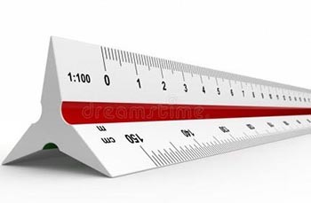 Architect's Scale Ruler 12""