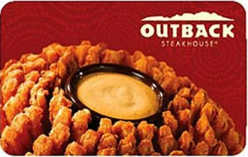 Outback Gift Card $25