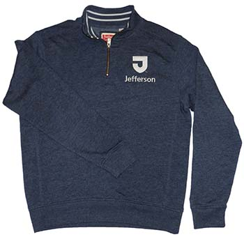 Triblend Collegiate 1/4 Zip Sweatshirt (SKU 104731462)