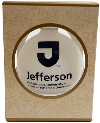 Jefferson White Velvet Ornament