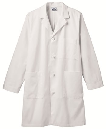 Graduate Men's Knot Button Ipad Long Lab Coat Embroidered #762