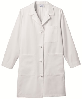 Graduate Ladies Knot Button Ipad Long Lab Coat Embroidered #763 (SKU 1049735735)