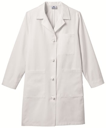 Graduate Ladies Knot Button Ipad Long Lab Coat Embroidered #763