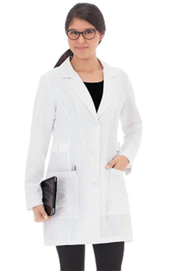 Graduate Ladies Buckle Short Stretch Lab Coat W/Patch #883 (SKU 1051792535)