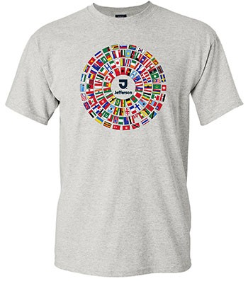 International Flags Tee White