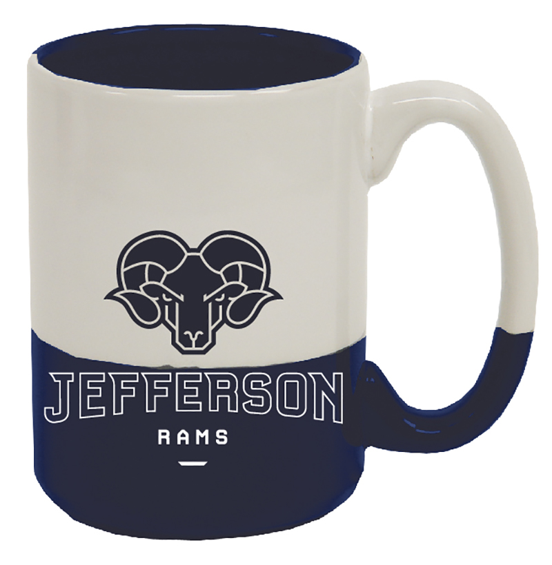 Drinkware Jefferson Mug Cobalt In White & Cobalt Out