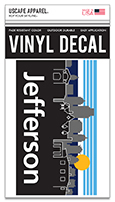 Decal Skyline Rectangular