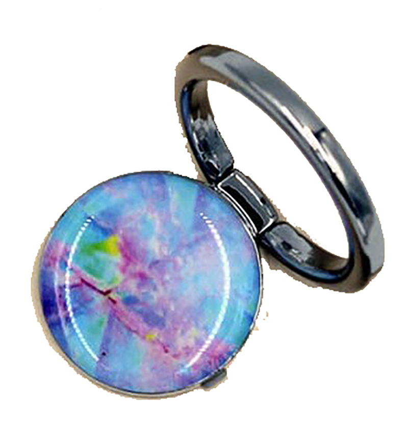 Idecoz Phone Grip Ring & Stand Opal Marble