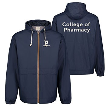 Vintage Hooded Rain Jacket College Of Pharmacy