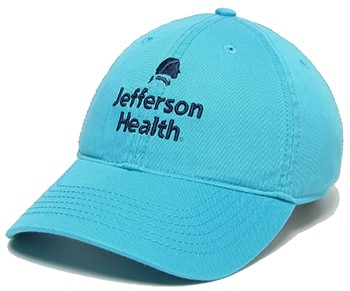 Jefferson Health Cap Aqua Blue