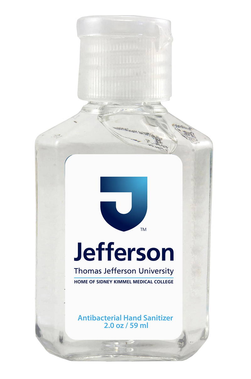 Jefferson Hand Sanitizer 2Oz Jeff Logo