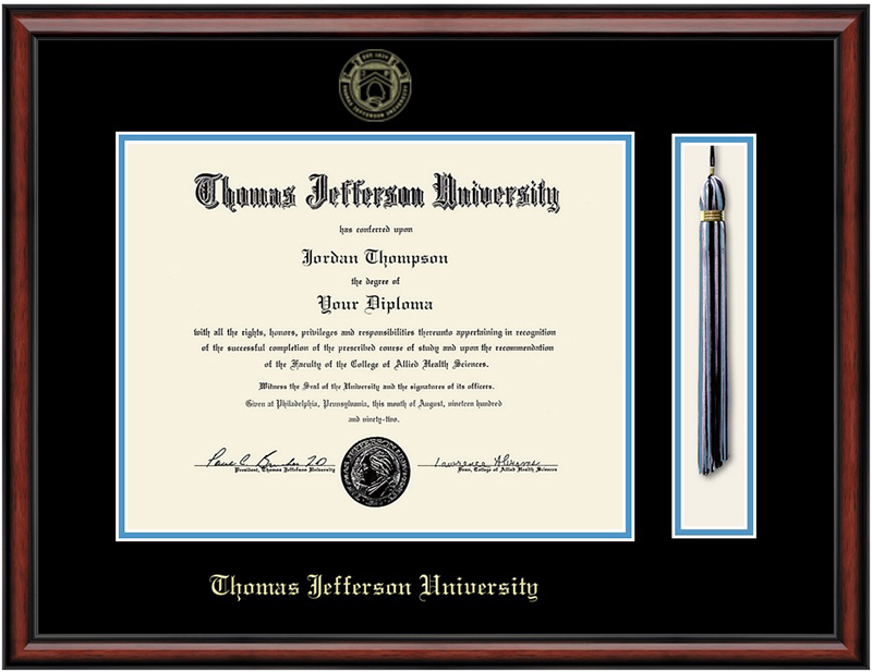 Jefferson Masters/Phd Southport Diploma Frame